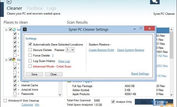 Synei PC Cleaner Ekran Görüntüleri - 1