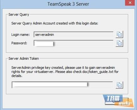 TeamSpeak Server Ekran Görüntüleri - 1
