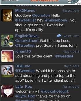 TweetList Ekran Görüntüleri - 1