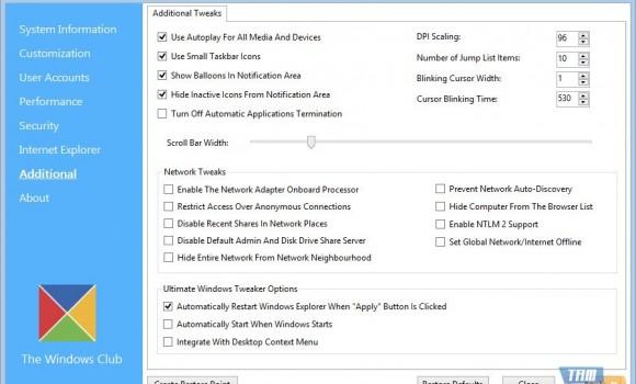 Ultimate Windows Tweaker Ekran Görüntüleri - 1