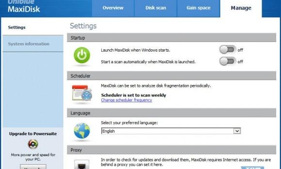 Uniblue MaxiDisk Ekran Görüntüleri - 1