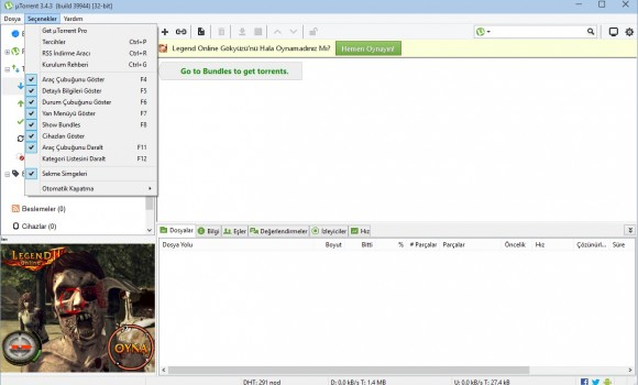 uTorrent Ekran Görüntüleri - 4