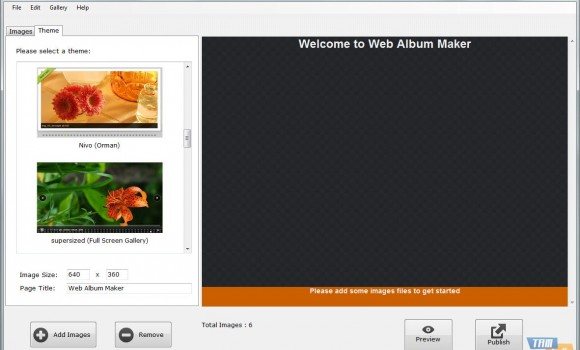 Web Album Maker Ekran Görüntüleri - 3