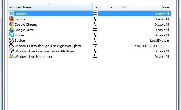 Windows 7 Firewall Control Ekran Görüntüleri - 1
