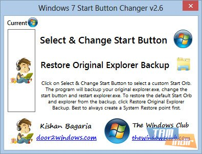 Windows 7 Start Button Changer Ekran Görüntüleri - 1