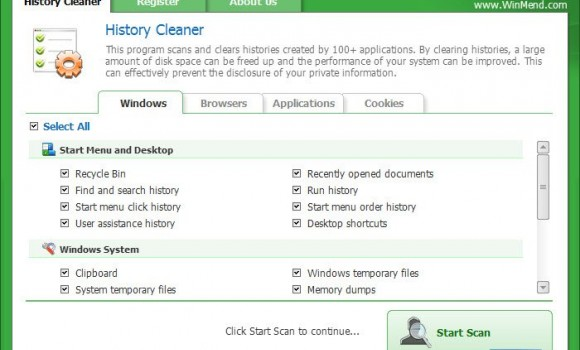 WinMend History Cleaner Ekran Görüntüleri - 4