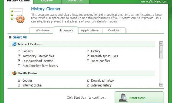 WinMend History Cleaner Ekran Görüntüleri - 3