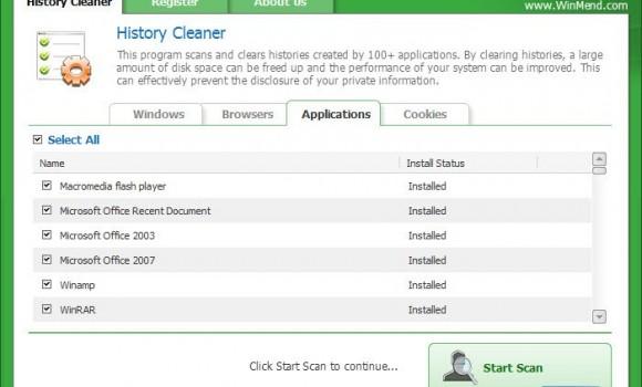 WinMend History Cleaner Ekran Görüntüleri - 2