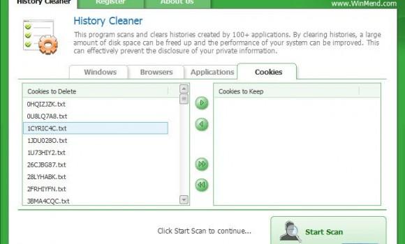 WinMend History Cleaner Ekran Görüntüleri - 1