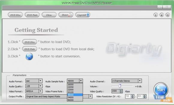 WinX Free DVD to MP4 Ripper Ekran Görüntüleri - 1