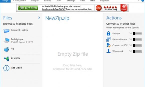 WinZip Ekran Görüntüleri - 2