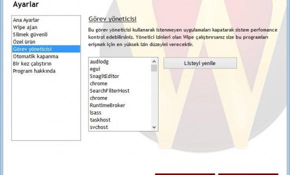 Wipe Ekran Görüntüleri - 3