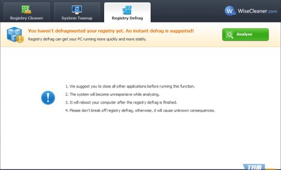 Wise Registry Cleaner Free Ekran Görüntüleri - 1