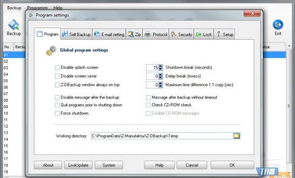 Z-DBackup Ekran Görüntüleri - 2