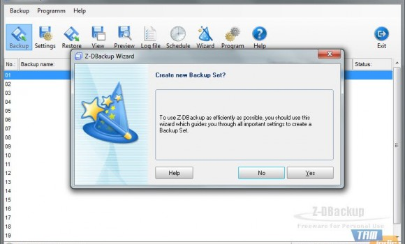 Z-DBackup Ekran Görüntüleri - 1