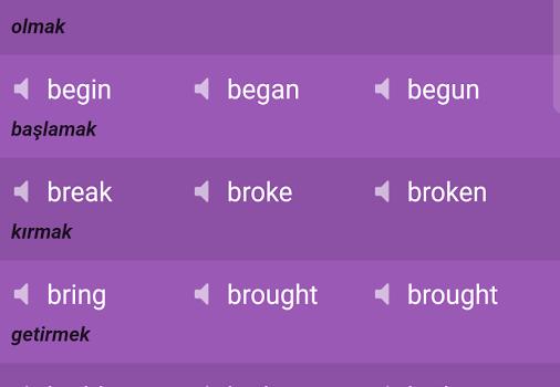 English Irregular Verbs Ekran Görüntüleri - 3
