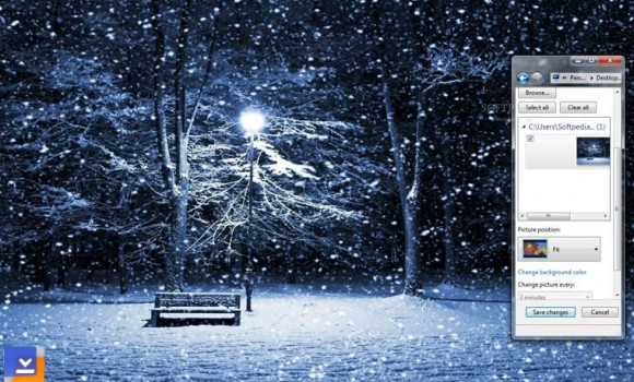 Snowing Teması Ekran Görüntüleri - 1