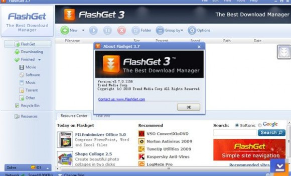 FlashGet Ekran Görüntüleri - 1