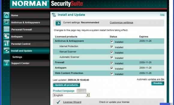 Norman Security Suite Ekran Görüntüleri - 2
