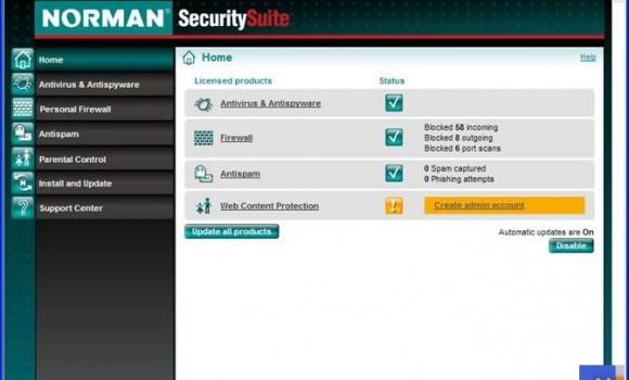 Norman Security Suite Ekran Görüntüleri - 1