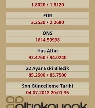 Altın Fiyatları Döviz Kurları Ekran Görüntüleri - 2