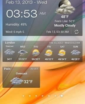 Android Weather & Clock Widget Ekran Görüntüleri - 1