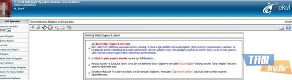 E-okul Veli Bilgilendirme Sistemi Ekran Görüntüleri - 2