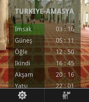 İmsakiye 2012 Ramazan Ekran Görüntüleri - 2