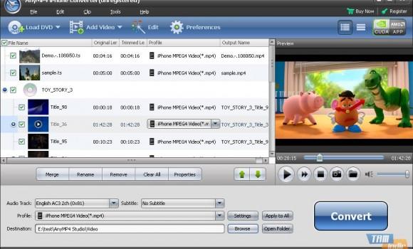 AnyMP4 iPhone Converter Ekran Görüntüleri - 1