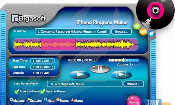 Bigasoft iPhone Ringtone Maker for Mac Ekran Görüntüleri - 1