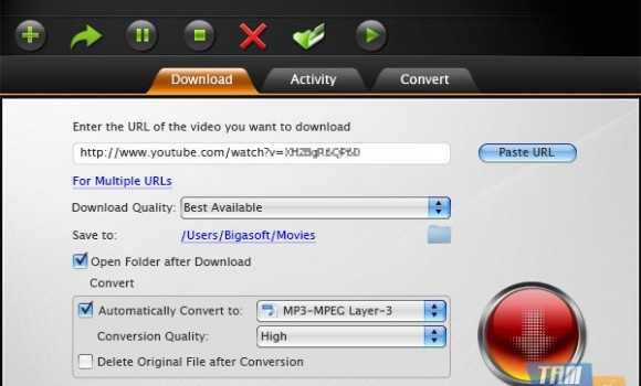 Bigasoft Video Downloader Pro for Mac Ekran Görüntüleri - 1