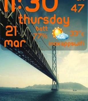 Digital Clock Live Wallpaper Ekran Görüntüleri - 1