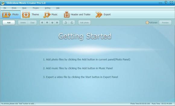 GiliSoft Slideshow Movie Creator Ekran Görüntüleri - 1