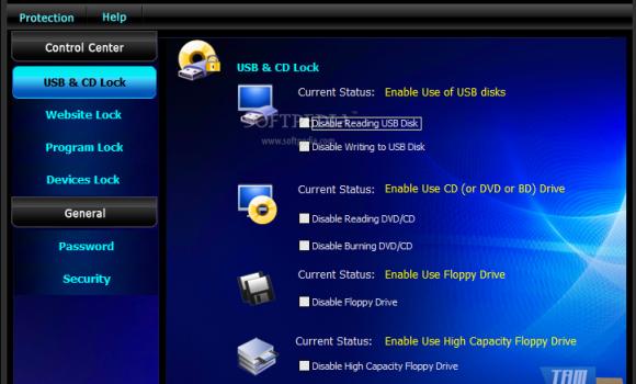 GiliSoft USB Lock Ekran Görüntüleri - 1