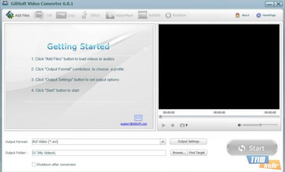 GiliSoft Video Converter Ekran Görüntüleri - 1