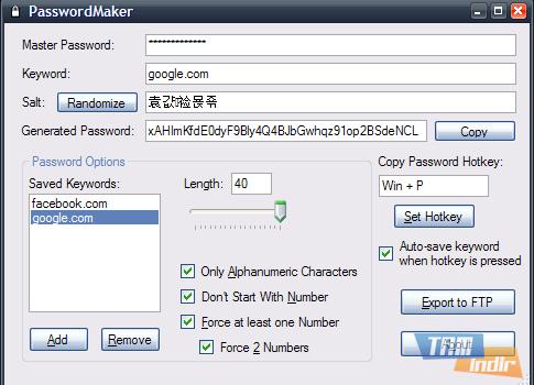 PasswordMaker Ekran Görüntüleri - 4