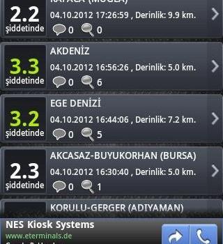 Son Depremler Ekran Görüntüleri - 5