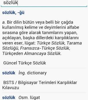 TDK Büyük Türkçe Sözlük Ekran Görüntüleri - 1