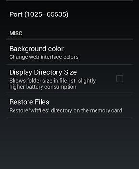 WiFi File Transfer Ekran Görüntüleri - 1