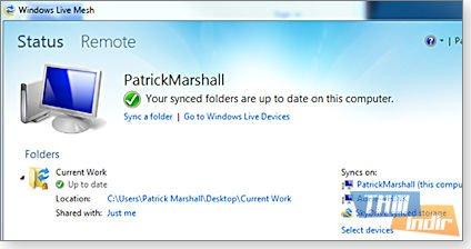 Windows Live Mesh Ekran Görüntüleri - 2