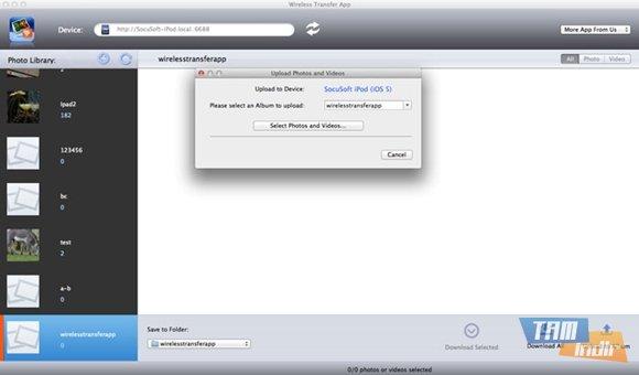 Wireless Transfer App for Mac Ekran Görüntüleri - 3