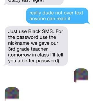 Black SMS Ekran Görüntüleri - 1