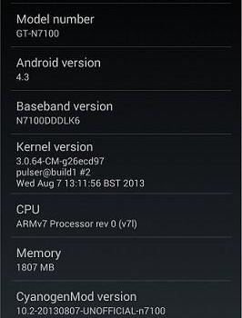 CyanogenMod Ekran Görüntüleri - 2