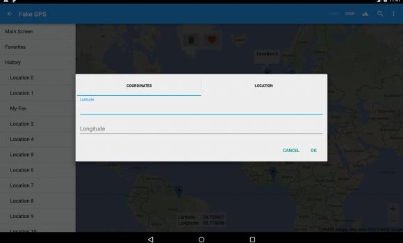 Fake GPS Ekran Görüntüleri - 2