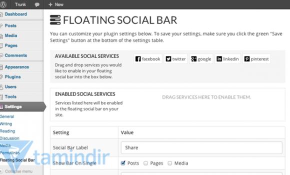 Floating Social Bar Ekran Görüntüleri - 2