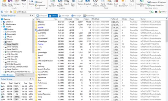 FolderSizes Ekran Görüntüleri - 1