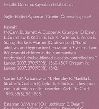 Gıda Katkı Maddeleri Ekran Görüntüleri - 1