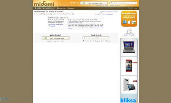 Midomi.com Ekran Görüntüleri - 1