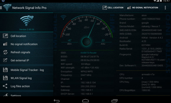 Network Signal Info Ekran Görüntüleri - 5