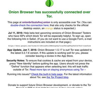 Onion Browser Ekran Görüntüleri - 3